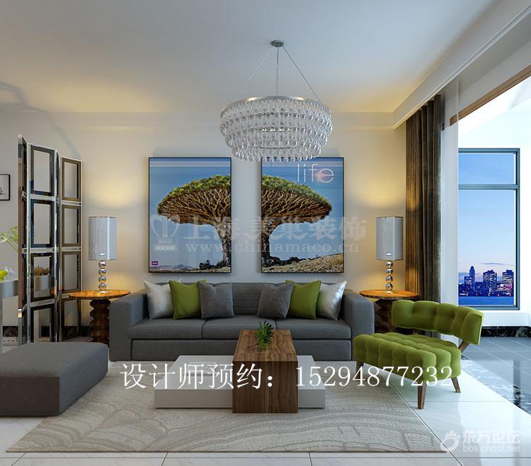 盛润锦绣城90平二室二厅现代简约风格装修效果图